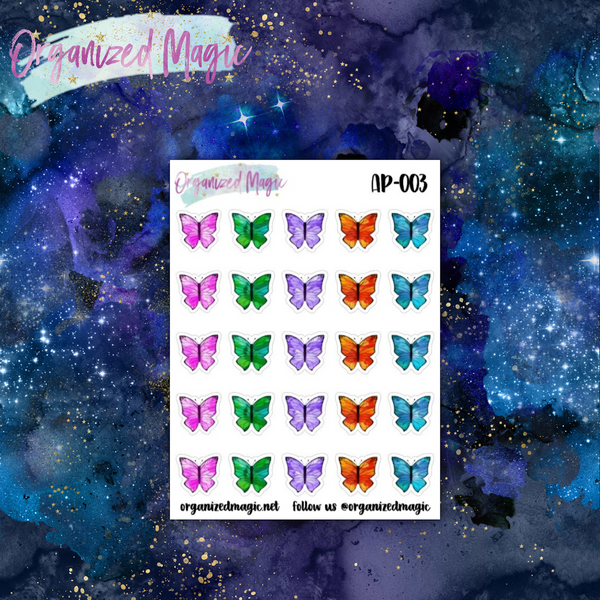 Butterly planner stickers