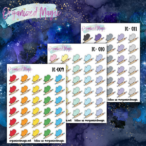 baking planner stickers