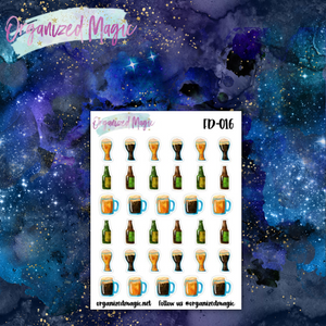 beer mug bottle planner stickers