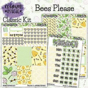 Bees Please Classic weekly planner sticker kit