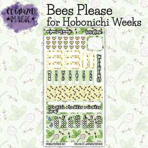 Bees Please Hobonichi Weeks planner sticker kit
