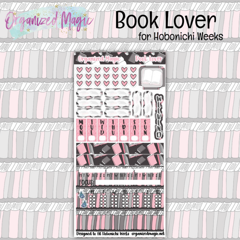 book lover hobonichi planner sticker kit
