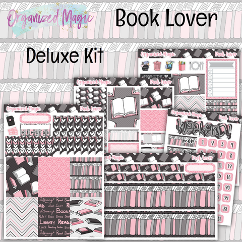 Book Lover Deluxe planner sticker kit