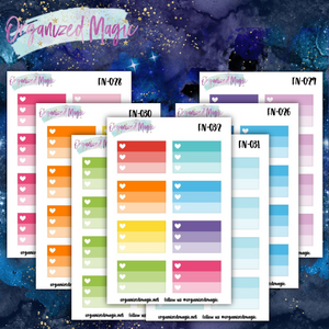ombre heart 3 task planner stickers