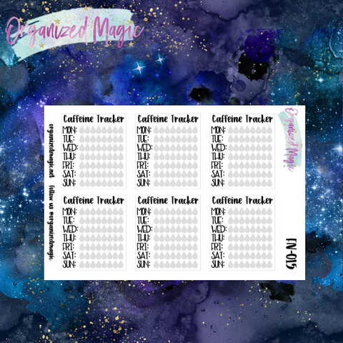 daily caffeine tracker planner stickers