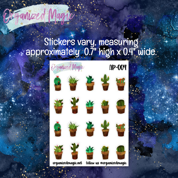 Cacti Planner Stickers