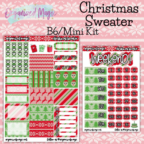 Christmas Sweater B6 Mini kit planner sticker kit