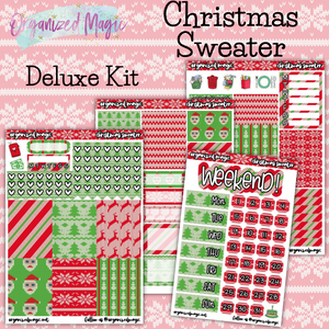 Christmas Sweater Deluxe weekly planner sticker kit