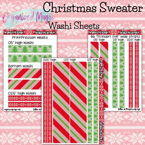 Christmas Sweater washi strip sheets