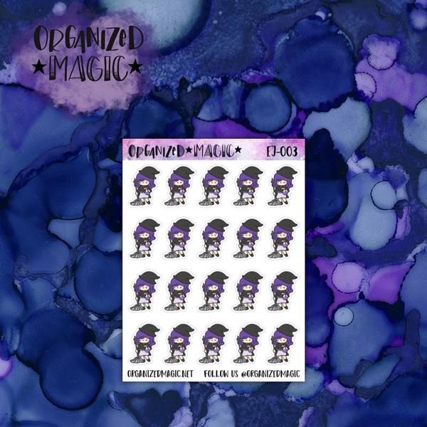 Cleaning Ellie witch planner stickers