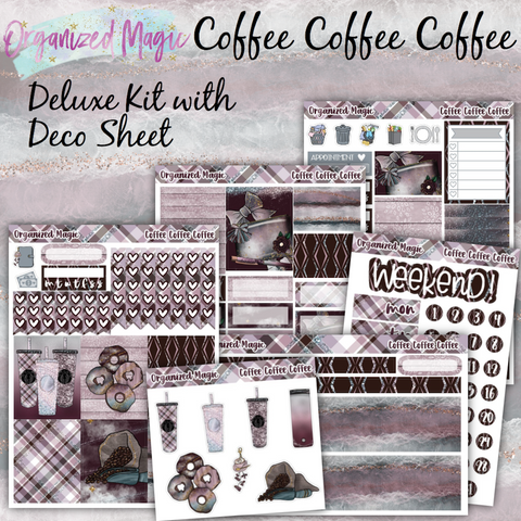 coffee coffee coffee deluxe weekly planner sticker kit