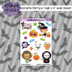 Costume Party halloween planner stickers