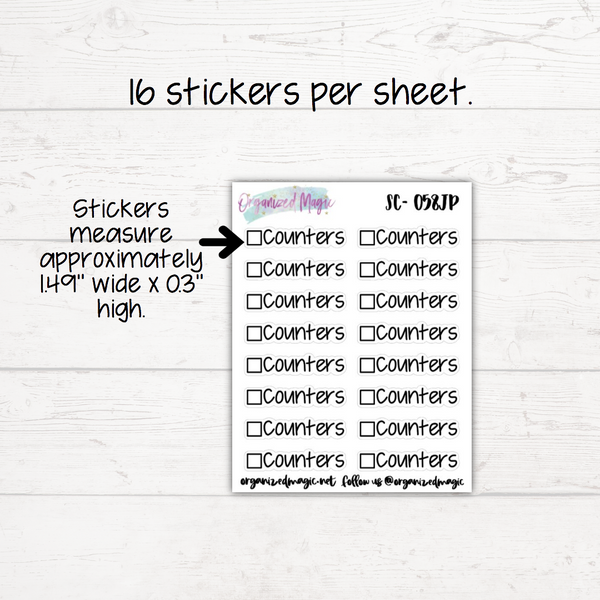 Counters Script Planner Stickers