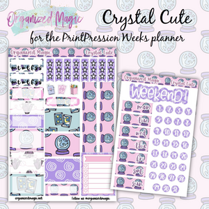 crystal cute PrintPression Weeks planner sticker kit