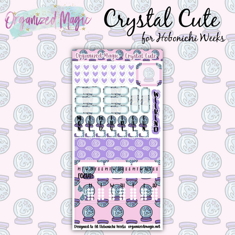 Crystal Cute Hobonichi Weeks Planner Sticker kit