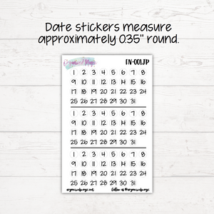 Days, Dates, and Months Planner Stickers