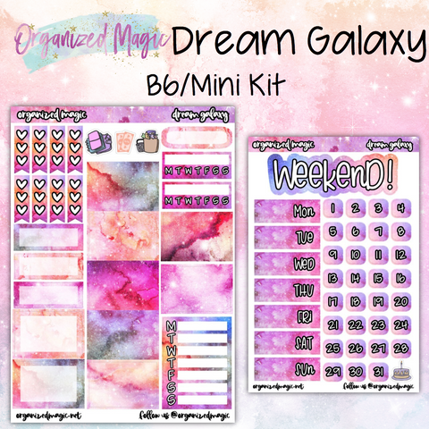 Dream Galaxy B6/Mini Kit planner stickers