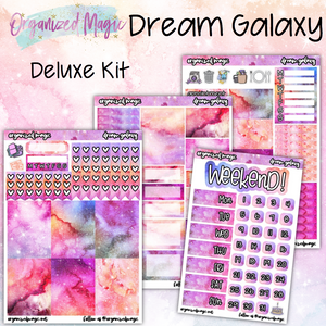 Dream Galaxy Deluxe Weekly Planner Sticker Kit