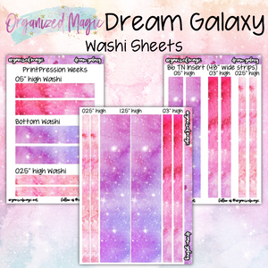 Dream Galaxy washi sheets