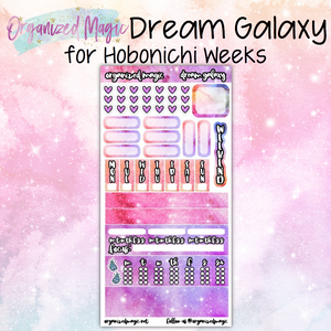 Dream Galaxy Hobonichi Weeks planner sticker kit