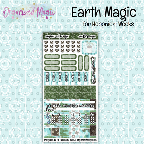 Earth Magic Hobonichi Weeks Planner sticker kit