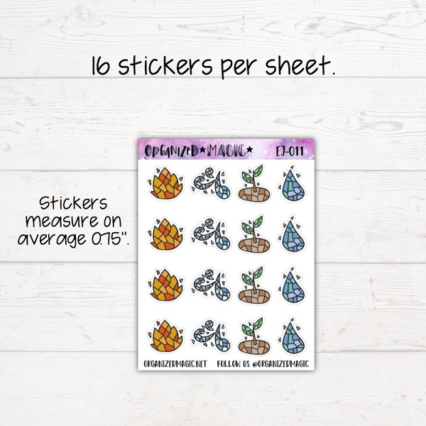 The 4 Elements Planner Stickers