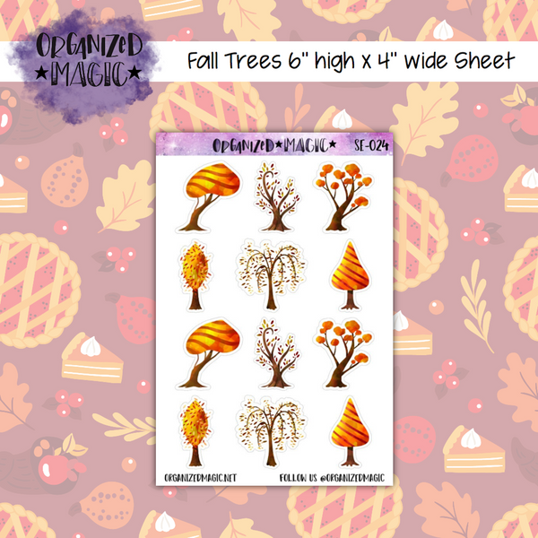 Fall Trees planner stickers