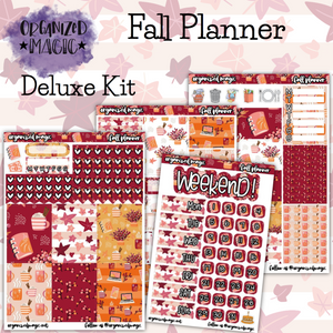 Fall Planner weekly planner sticker kit