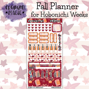 Fall Planner Hobonichi Weeks planner stickers