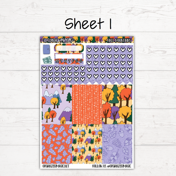Fall Mountains Deluxe Weekly Kit