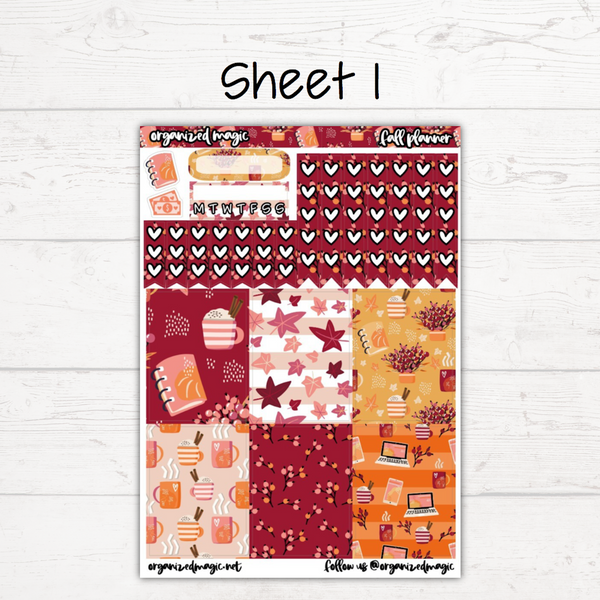 Fall Planner Deluxe Weekly Kit