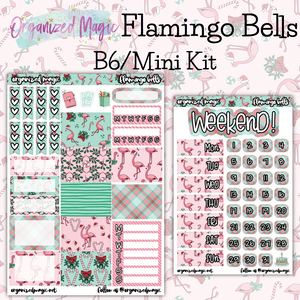 Flamingo Bells B6 Mini kit planner sticker kit