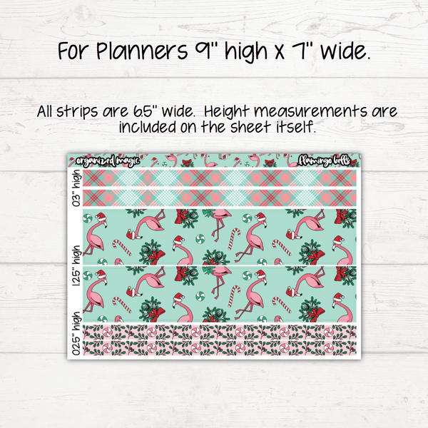 Flamingo Bells Washi Sheet