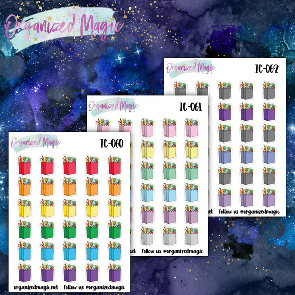 grocery bag icon planner stickers