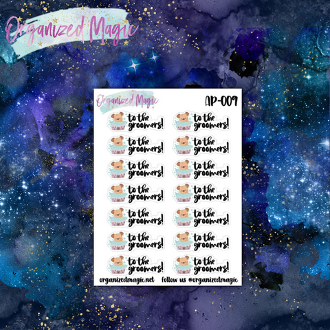 dog groomer planner stickers
