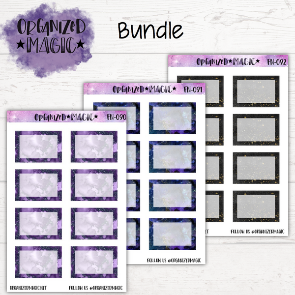 Galactic Half Box Planner Stickers