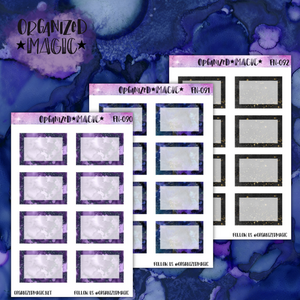 galaxy half box planner stickers