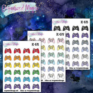 Doodle gaming planner stickers