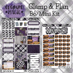 Glamp & Plan B6 mini kit planner stickers