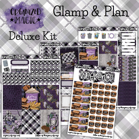 Glamp & Plan weekly planner sticker kit