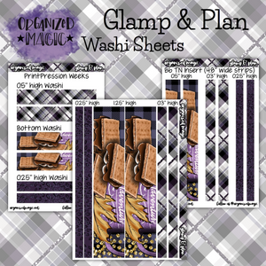 Glamp & Plan washi sticker sheets