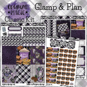 Glamp and Plan Classic weekly planner sticker kit