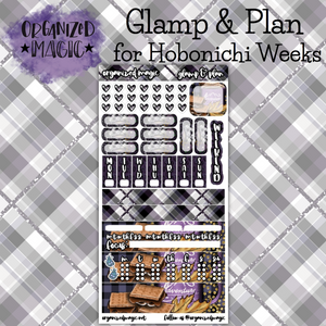 Glamp & Plan Hobonichi Weeks planner sticker kits
