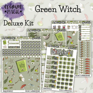 Green Witch Deluxe weekly planner sticker kit