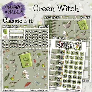Green Witch Classic weekly planner sticker kit