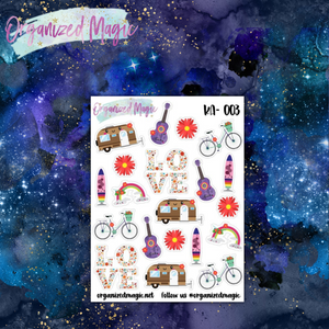 kawaii hippie planner stickers