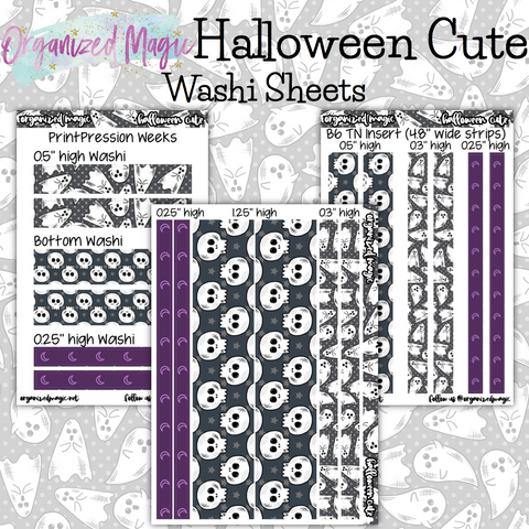 Halloween Cute washi sheet strips stickers
