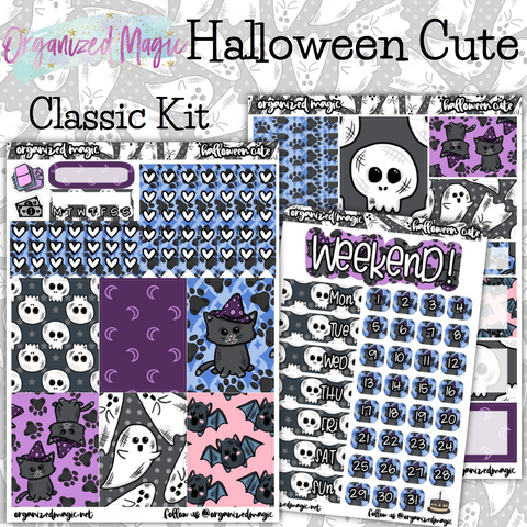 Halloween Cute Classic weekly planner sticker kit