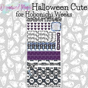Halloween Cute Hobonichi Weeks planner sticker kit
