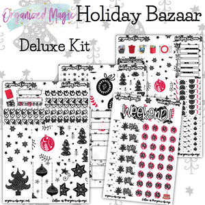 Holiday Bazaar Deluxe weekly planner sticker kit